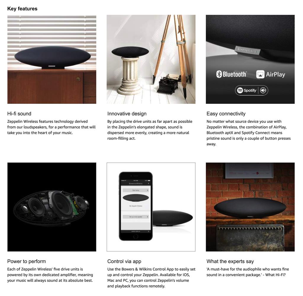 Bowers & Wilkins - Zeppelin Wireless AirPlay Speaker