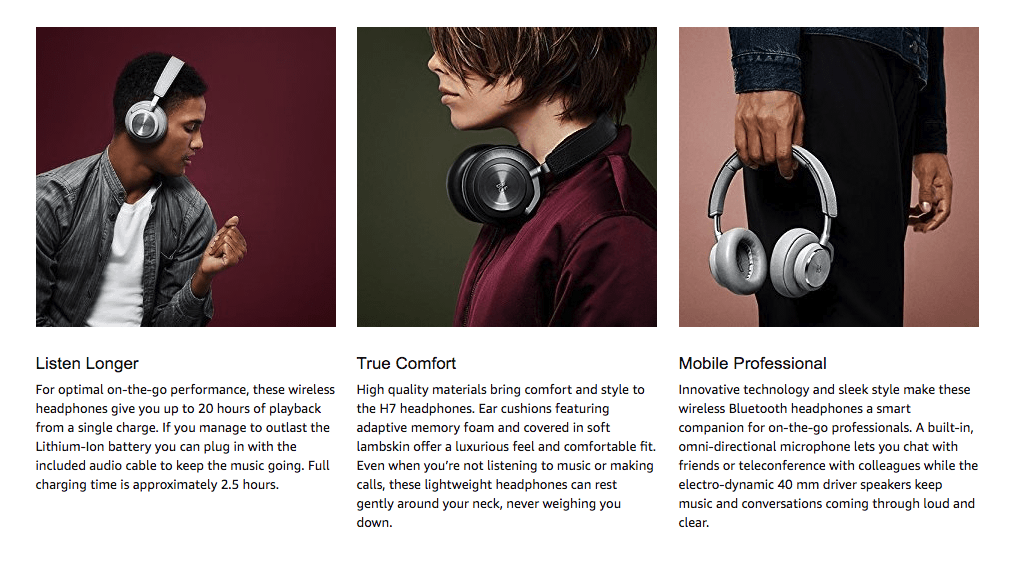 42a20d5350c Beoplay H7 wireless headphones give you the freedom to experience Bang &  Olufsen's uncompromising signature sound when and where you want.