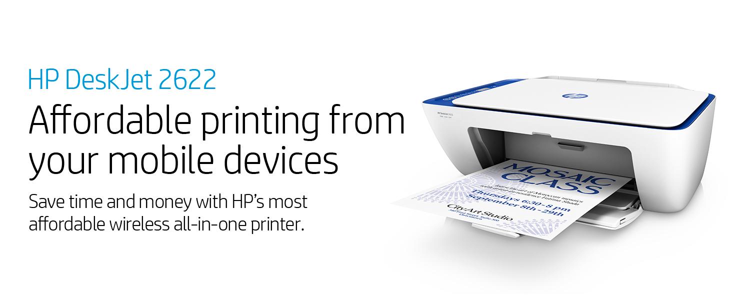 HP - DeskJet 2622 All-in-One wireless Compact Printer ...